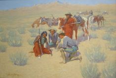 Image detail for -File:'A Map in the Sand' by Frederic Remington, Cincinnati Art Museum ...