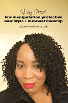 Low Manipulation Protective Hairstyle + Minimal Makeup that Wows