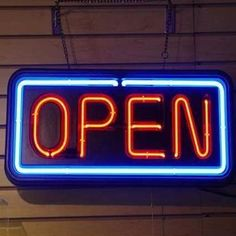 Neon Sign Shop, Sidewalk Signs, Open Signs, Flex Room, Sign Lighting, Door Signs, Property Management, Decoration, Woodworking Plans