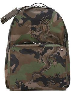 Valentino камуфляжный рюкзак 'Chinese dragon'