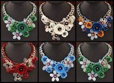 Bižutéria A-LA FRANCE Crochet Necklace, Jewelry, Fashion, Moda, Jewlery, Jewerly, Fashion Styles, Schmuck, Jewels
