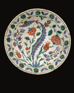 An Iznik Polychrome Dish, Turkey, Circa 1575-1580   Lot   Sotheby's