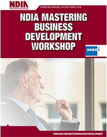 NDIA Mastering Business Development Workshop - June 22-23, 2016 - Tewksbury, MA