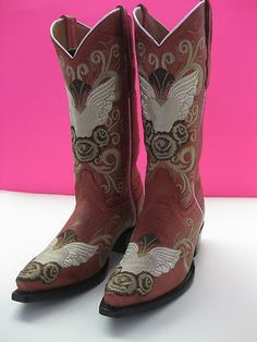 LADIES WOMENS COWBOY RODEO BOOTS CLUBBING SEXY CUSTOM EMBROIDERY HEARTS FLOWERS