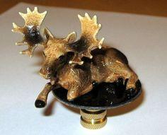 Moose Lamp Finial, lamp toppeer, porcelain, new