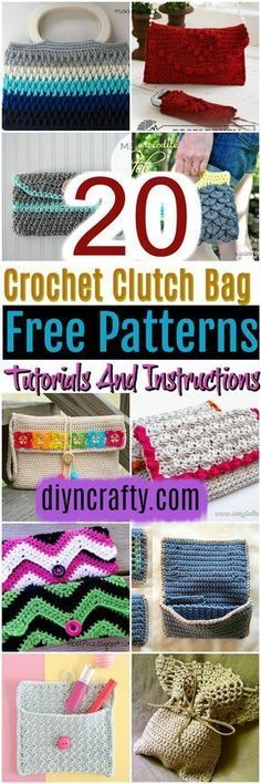 20 #Crochet #Clutch Bag Free Patterns:Here I have a list of crochet clutch bag free patterns tutorials. And I have given you the complete guide for each.
