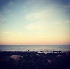 Maine coast in the evening