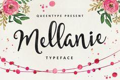 Mellanie Typeface by QueenType on @creativemarket