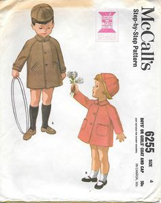 McCalls 6255 1960s Childs Coat and Cap by GrandmaMadeWithLove