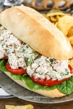 Bacon Ranch Chicken Salad - Spend With Pennies - Annabelle Leedes Bacon Ranch Chicken Salad Recipe, Homemade Chicken Salads, Chicken Salad With Grapes, Creamy Chicken Pasta, Grilled Chicken Salad, Chicken Salad Recipes, Cooked Chicken, Chicken Sandwich, Grape Salad