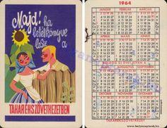 1964 - 1964_0151 - Régi magyar kártyanaptárak Pocket Calendar, Retro, Cover, Books, Cards, Pockets, Pocket Diary, Libros, Book