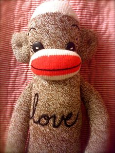 Love Sock Monkey made to order by POST STREET by katarinathorsen, $55.00