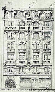 18 Rue Gen. Beuret- Paris source: The World Art Nouveau ( Facebook)