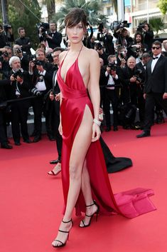 Bella Hadid Has Never Been Shy on the Red Carpet Photos | W Magazine