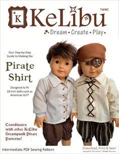 Pixie Faire KeLibu Steampunk Pirate Shirt von PixieFairePatterns