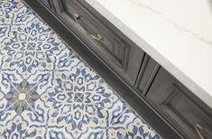 Villa Azul Tile in Bar Bath Tiles, Ceramic Wall Tiles, Porcelain Tile, Mosaic Tiles, Cement Tiles, Painting Cement, Fireplace Surrounds, Decorative Tile, Color Of The Year