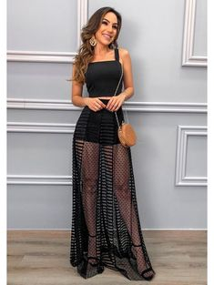 Conjunto Master Mix Preto in 2020 Modest Dresses Casual, Cute Dresses, Festival Outfits, Party Fashion, Aesthetic Clothes, Homecoming Dresses, Evening Dresses, Ideias Fashion, Fashion Dresses