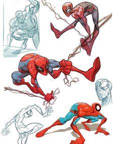 This guy's always fun as hel… from this year's . This guy's always fun as hell! Spiderman Poses, Spiderman Art, Spiderman Sketches, Amazing Spiderman, Chibi Marvel, Hq Marvel, Cartoon As Anime, Cartoon Art, Comic Books Art