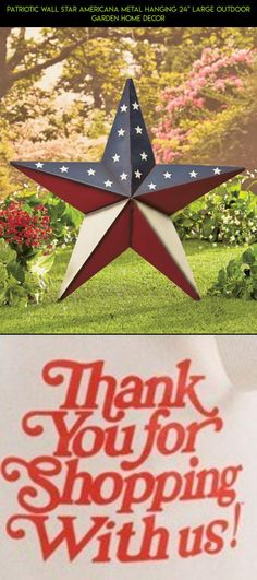 """Patriotic Wall Star Americana Metal Hanging 24"""" Large Outdoor Garden Home Decor #technology #racing #plans #gadgets #decor #products #drone #parts #kit #tech #shopping #fpv #americana #camera #outdoor"""