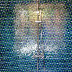 Shower Goals 🙏🏽. #aitmanos #bathroom #bathtiles #tiles #tiledesign #tilelove #homedecor #home #tileideas #tiling #bathroomdesign #tileshower #blue #green #handmade #morocco #zellige