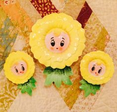 Lefton Anthropomorphic Flower Girls Wall Pocket by BobsGoodJunk