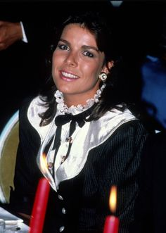 Princess Caroline of Monaco at the American Film Festival held in Deaville,France.September,1982.