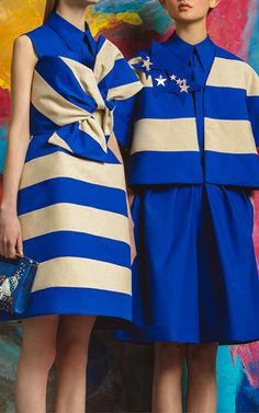 Strapless Striped Dress by DELPOZO | Moda Operandi