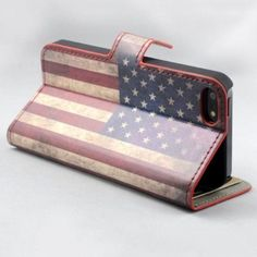New Original U.S.Flag Wallet Leather Flip+Magnetic Phone Cover Case For iPhone 4 4S 5 5S Cards Slot Stand Case iPhone Covers Online
