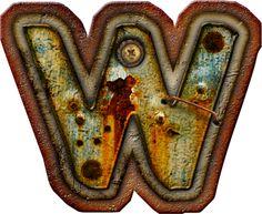 CH.B *✿* Alfabeto metal oxido..W