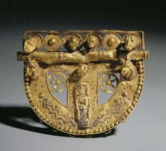 Belt-buckle with granulated decoration, Orientalizing Period, c.700 BC (gold)