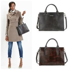 Classic Square Satchel Handbags On Work Wardrobe Briefcase Stylish