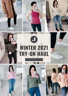 Yesterday I posted the first half of a big try-on haul, and today I have part two! This is a mix of tops, spring jackets, and sneakers from Nordstrom, Gap, Talbots, Shopbop, and more. Winter Fashion Casual, Autumn Winter Fashion, Fall Winter, Everyday Casual Outfits, Everyday Fashion, Spring Outfits Women, Fall Outfits, Dress For Body Shape, Fashion For Women Over 40