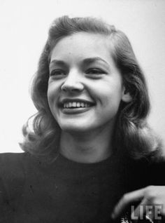 Looks to be a very young Lauren Bacall.