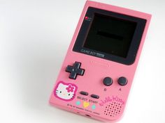Cute Beauty Nintendo GAME BOY POCKET Hello Kitty Pink Artwork Console Japan Cute Beauty, Beauty Art, Hello Kitty Games, Hello Cute, American Girl Crafts, Hello Kitty Collection, Ds Games, My Little Girl, Sanrio