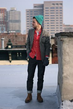 """Loving our beanie on Dustin of """"Closet Freaks"""". #urbanoutfitters"""