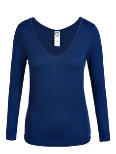 Katie Perry St Tropez V-Neck Navy Top Super soft viscose casual long sleeve tops. Buy St Tropez V-Neck Tops made in Sydney from Katie Perry Boutique store. Women's St Tropez V-Neck Tops are good for Lounge, travel, work, holiday and evening. Layer this top underneath the Bali Vest in winter or wear it casually with Adelaide Pants and a Merino wrap. #Womens_designer_dresses_australia #Maternity_clothes #Designer_dress #Womens_fashion_clothing_australia #Womens_designer_clothing_australia