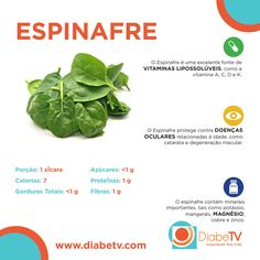 Espinafre para dieta antidiabetica!!!  :)