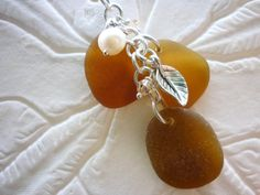Sea Glass Necklace: Cluster Beach Seaglass by TheMysticMermaid