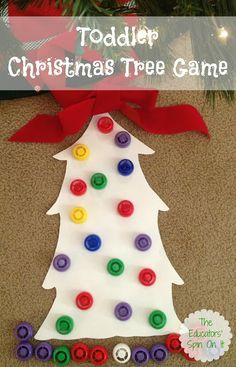 Christmas Tree Fun with Lids from The Educators' Spin On It