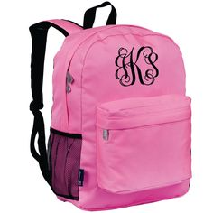 Monogram Backpack and Lunch Bag Set - Wildkin - Personalized - Pink  - Back to School Crackerjack by DesignsbyDaffy on Etsy