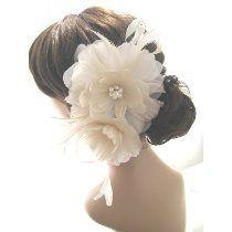 Acessório Grinalda Flores Em Pena Noiva Voilette Fascinator