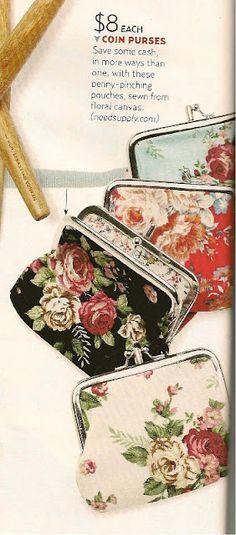A coin purse. Love Frames, Metal Frames, Coin Purses, Purses And Bags, Cute Coin Purse, Frame Purse, Summer Chic, Change Purse, Pouch