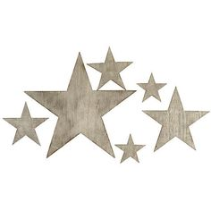 Five-Point Star Set Silver Signs ($79) ❤ liked on Polyvore featuring home, home decor, wall art, stars, backgrounds, fillers, outside wall art, star signs, silver home accessories and star home decor