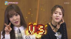 G-Friend's Yuju and BESTie's Hyeyeon battle to see who has the better reaction | http://www.allkpop.com/article/2016/02/g-friends-yuju-and-besties-hyeyeon-battle-to-see-who-has-the-better-reaction