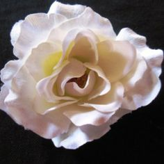 White Rose Flower on Velvet Rose's Pin Up Dressing Room - The vintage shop tailored to you #PinUpHairFlower #StockingStuffer Free Postage within Australia
