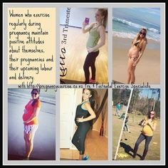Fit Pregnancy: Women who exercise regularly during #pregnancy maintain positive attitudes about themselves,  their pregnancies and upcoming labour and delivery.  #pregnancyexercise