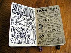 A visual Moleskine diary, I love the style of the artist on this one.