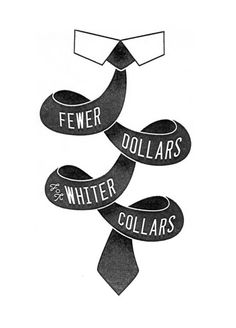 Fewer Dollars for Whiter Collars