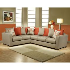 gray and burnt orange sectional burnt orange living room furniture