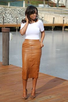 Womens real genuine lambskin leather skirt plus size custom made for christmas Clubwear, Brown Leather Skirt, Leather Pencil Skirts, Black Milk Clothing, Pencil Skirt Outfits, Midi Pencil Skirts, Mini Skirts, Brown Skirts, Work Attire